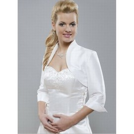 Taffetas blanc Chic Bolero simple