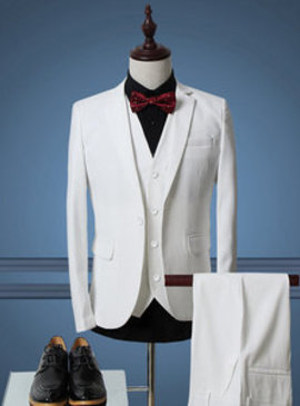 De luxe designer blanc costume mariage conceptions hommes costume