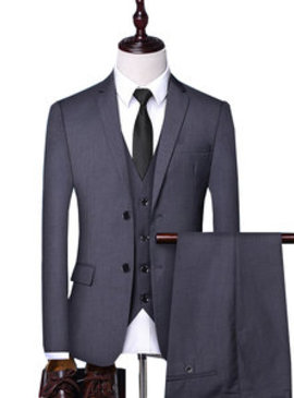 Costumes slim fit blazers deux boutons travail masculino hommes costumes