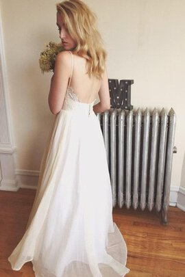 Robe de mariée simple sexy nature col en forme de cœur v encolure