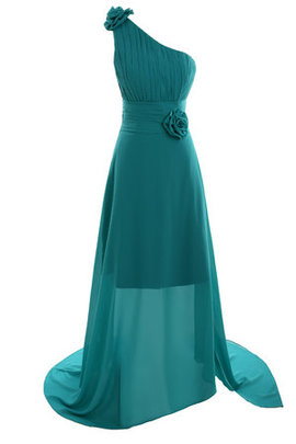 Robe demoiselle d'honneur simple officiel romantique en chiffon de bustier